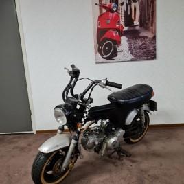 SKYTEAM Dax op motorkenteken 125cc